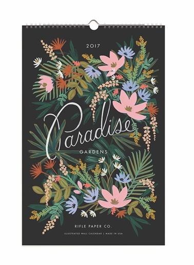 2017 Paradise Garden Takvim-Rifle Paper Co.